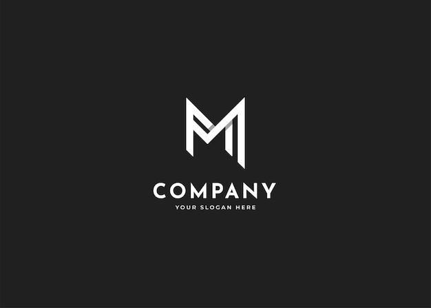 Шаблон дизайна логотипа буква m