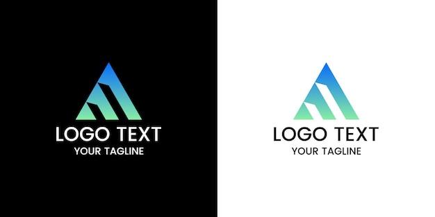 Буква м дизайн логотипа вектор
