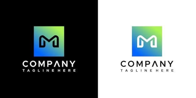 Буква m дизайн логотипа