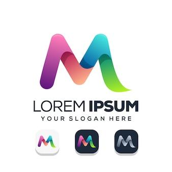 文字mのロゴデザイン