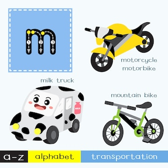 Letter m lowercase tracing transportations vocabulary
