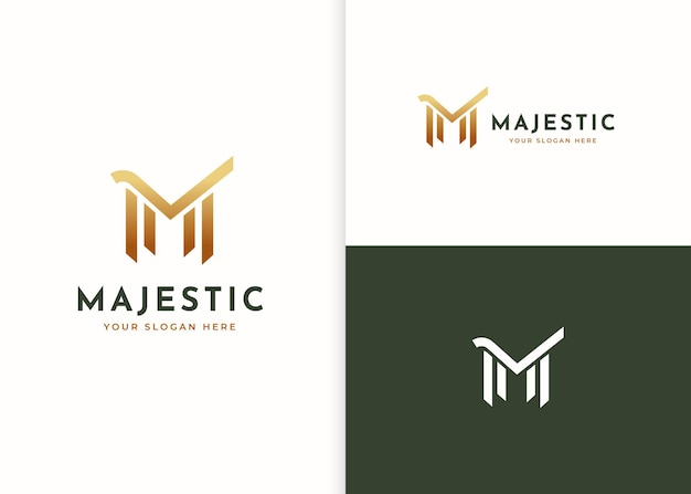Буква m роскошный дизайн логотипа