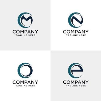 サークル内の文字mnoとpのモダンなロゴ