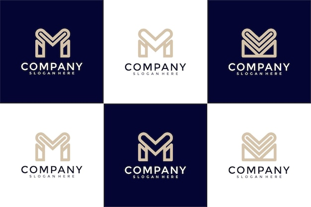Буква m с дизайном логотипа сердца