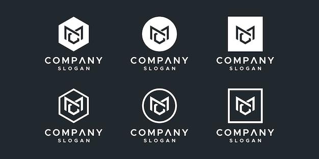 Letter mc logo design