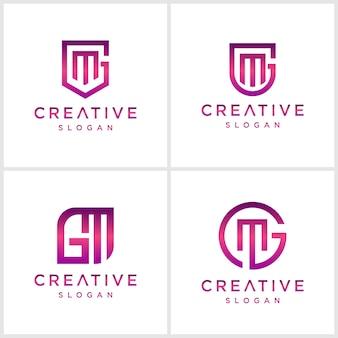 Letter mg bundel logo