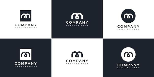 편지 모노그램 로고 디자인 서식 파일