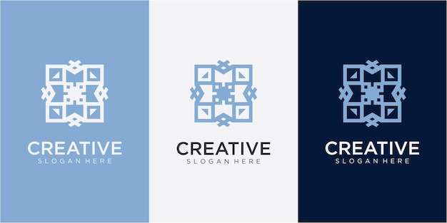 Letter mx community logo design inspiration with business card