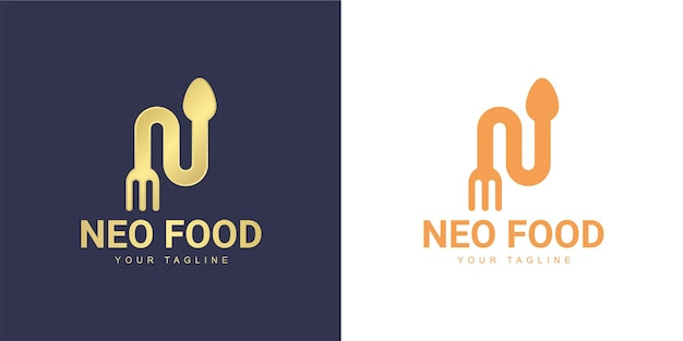 The letter n logo has a restaurant concept