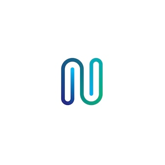 Letter n logo icon elements