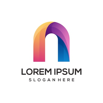 Буква n логотип