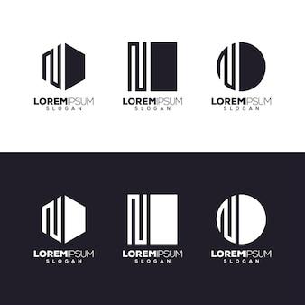 Letter n set logo design
