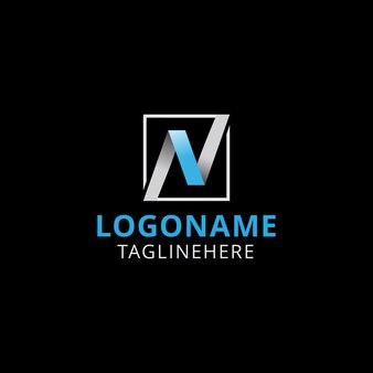Letter n square professional logo design
