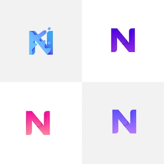 Letter n with liquid