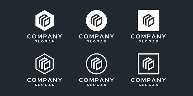 文字なしロゴデザインベクトル