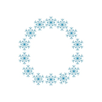 雪片からの手紙o。新年とクリスマスのためのお祝いのフォントや装飾