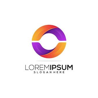 Letter o geometrick logo