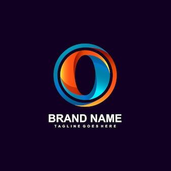 Буква o логотип концептуальный дизайн