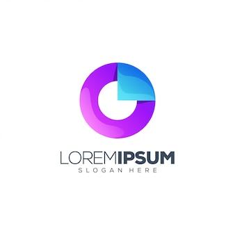 Letter o logo design vector