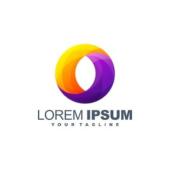 Letter o logo template