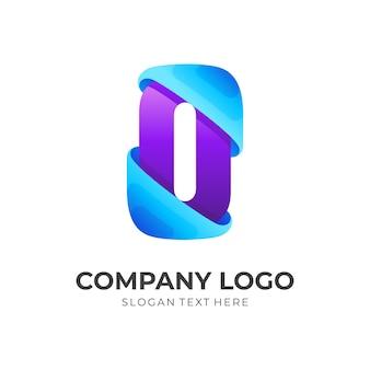 Буква o логотип вектор концепции, 3d простой стиль