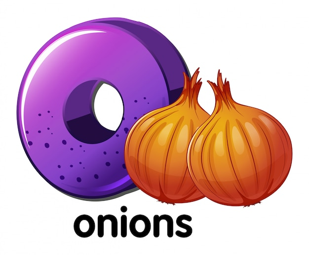 A letter o for onions