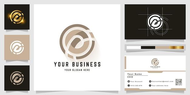 Буква o или логотип вензеля с дизайном визитной карточки