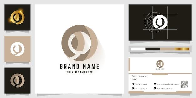 Буква o или логотип монограммы om с дизайном визитной карточки