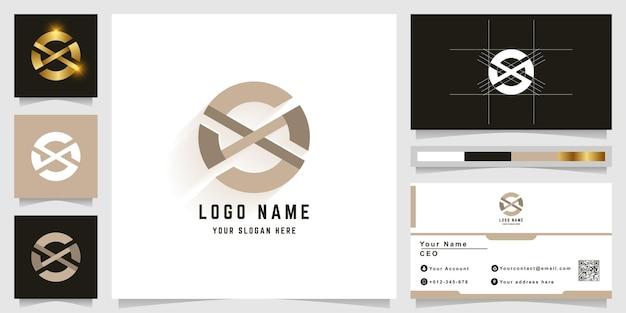 Буква o или ox монограмма логотип с дизайном визитной карточки