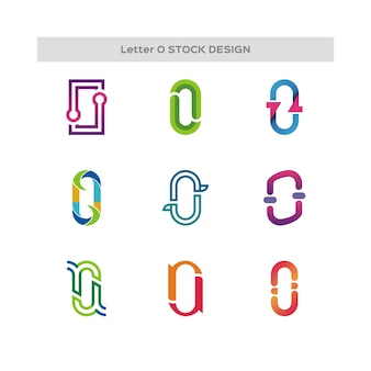Letter o stock design logo