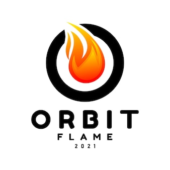 Буква o с логотипом пламени