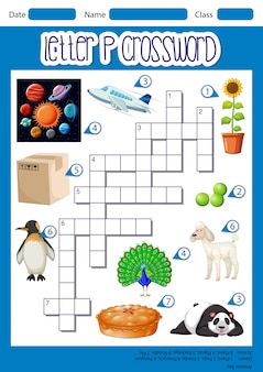 Letter p crossword concept