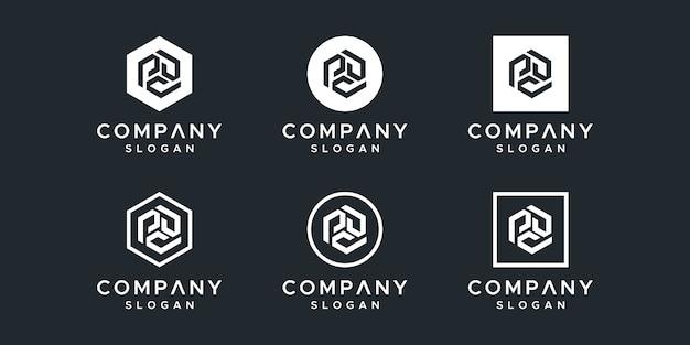 Letter p inspiring logo design