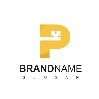 편지 p, 보안 및 부동산 회사의 키 로고