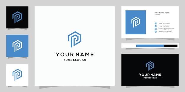 편지 p 로고와 명함 서식 파일
