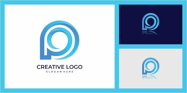 文字pのロゴデザイン