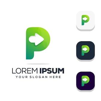 Буква p дизайн логотипа