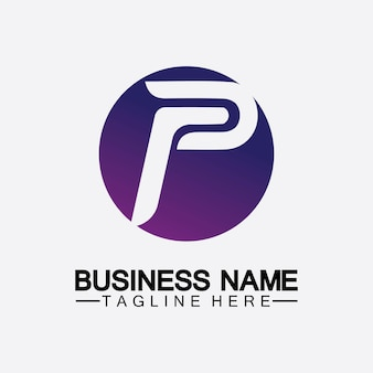 Letter p logo vector illustration design