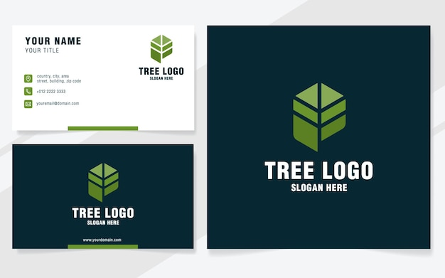 Letter p with tree logo template on modern style