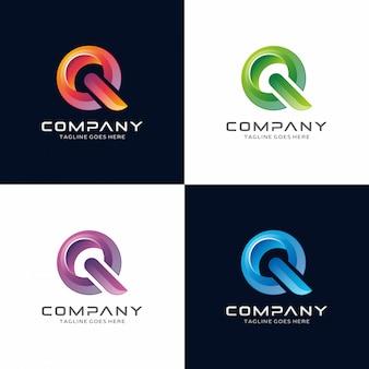 Letter q. abstract, modern, 3d logo design