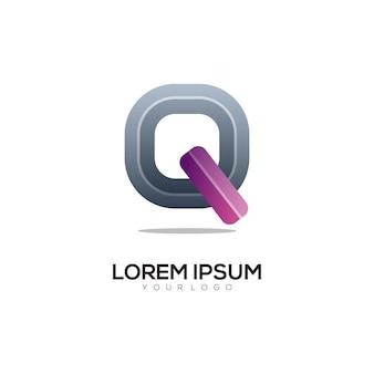 レターqカラフルなロゴデザインテンプレートモダン