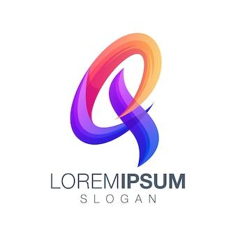 Letter q gradient color logo design