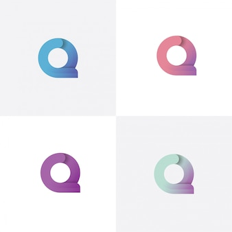 Letter q logo design template with different style