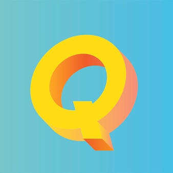 The letter q vector