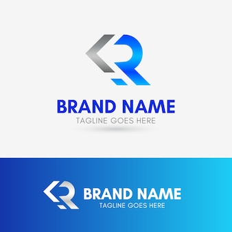 Letter r arrow logo