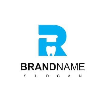 Letter r dental clinic logo design inspiration