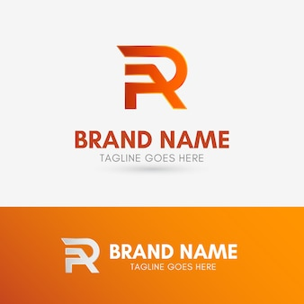 Letter r line logo