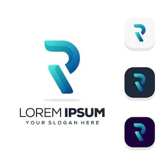文字rロゴデザイン