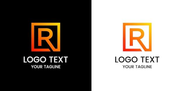 편지 r 로고 디자인