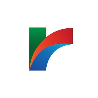 文字rロゴベクトル
